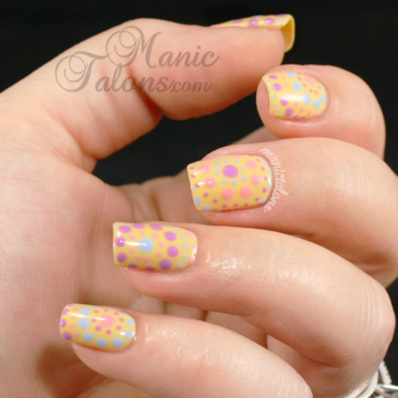 Pastel Dots for Spring nail art by ManicTalons
