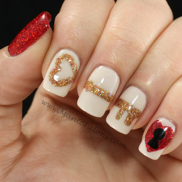 Key to My Heart nail art by ManicTalons