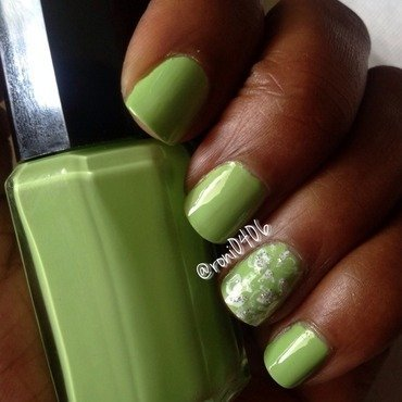 Green with envy nail art by Roni