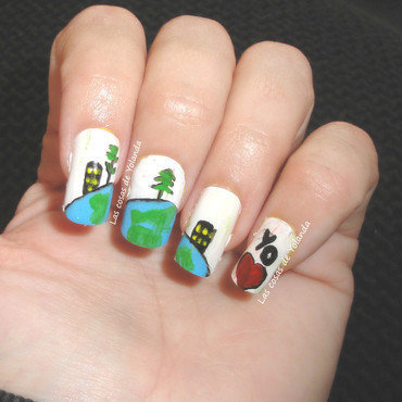 Earth Day Challenge nail art by Yolanda flores