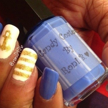 Let's go sailing... nail art by Roni