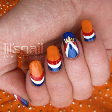 Dutch KingsdayNails 2014 nail art by Lily-Jane Verezen