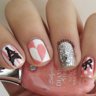 Paris nail art by  Vanesa