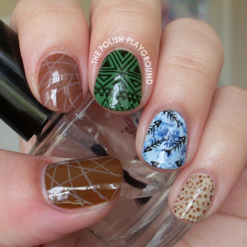 Survivor Inspired Nails nail art by Lisa N