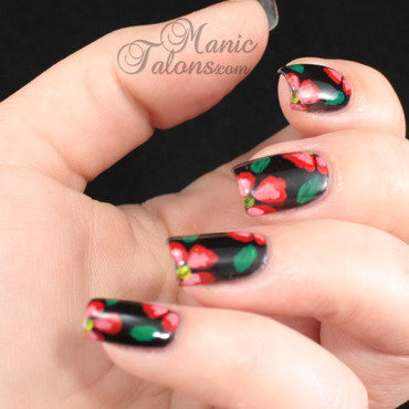 Acrylic flowers nail art 1 thumb370f