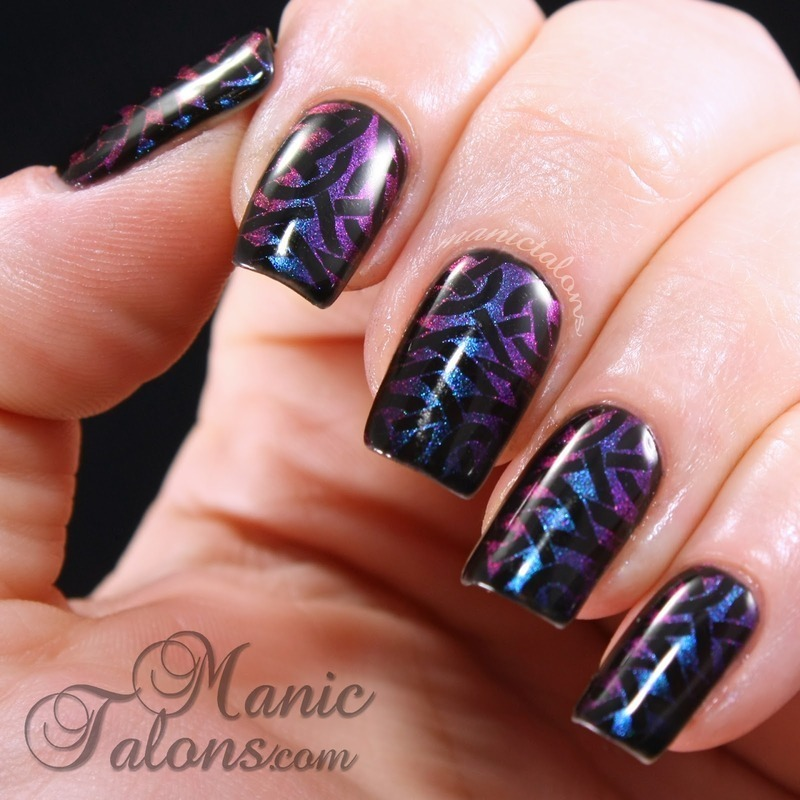 Stamping with Wave the Sails nail art by ManicTalons