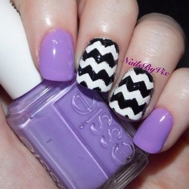 Pastel purple chevrons nail art by Victoria Lynn