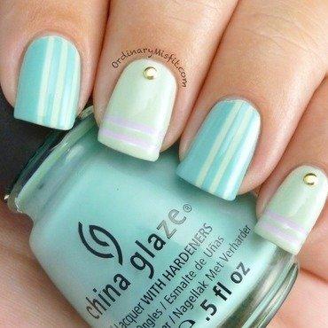 Minty stripes   studs nail art 2 thumb370f