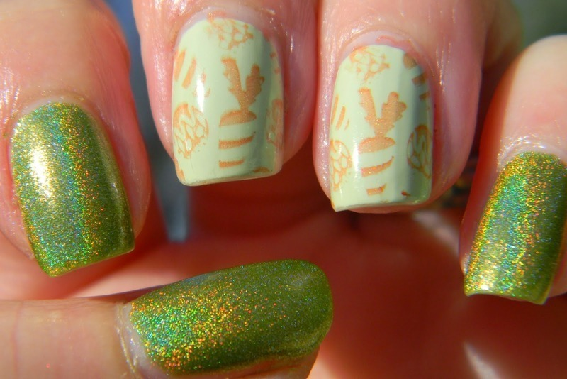 Holotta Carrots nail art by Polishfreshie