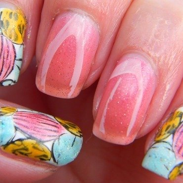 Leadlight Easter Eggs  nail art by Polishfreshie