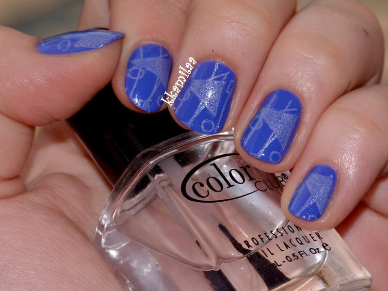 Triangles nail art by Kamila