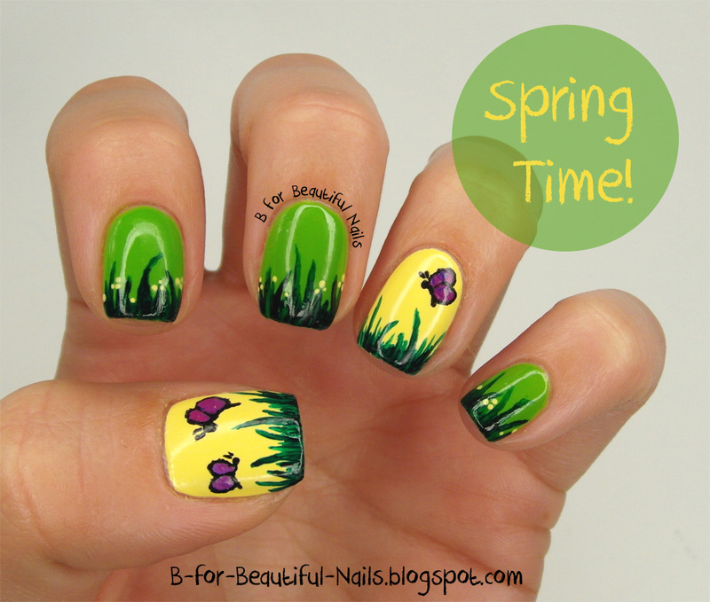 Spring Time! ♥ nail art by B.