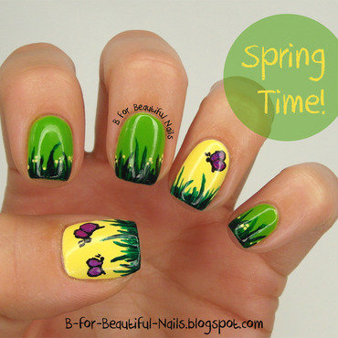 Spring Time! ♥ nail art by B.