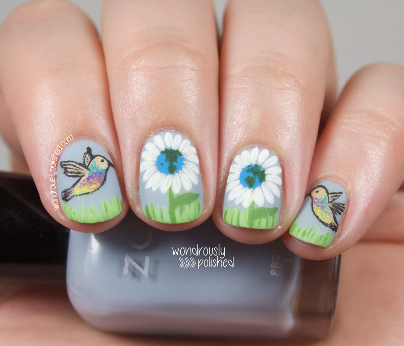 Happy Earth Day! nail art by Lindsey W