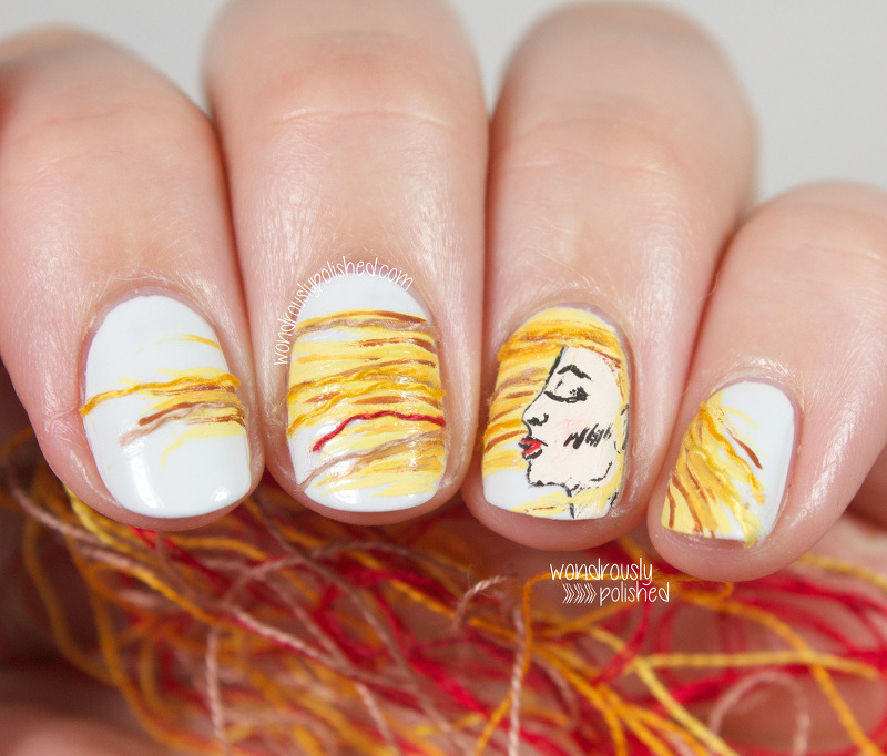 Image result for flying hair in wind nail art