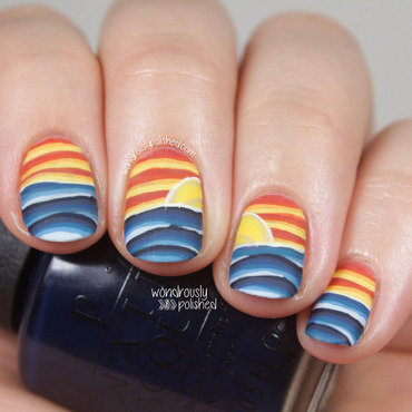 Wondrously polished nail art a go go day 3 warm vs cool nail art sunset abstract 4 thumb370f