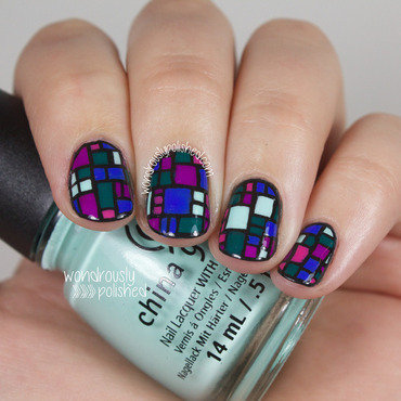 Wondrously polished nail art a go go day 2 jewel tones stained glass artwork 6 thumb370f