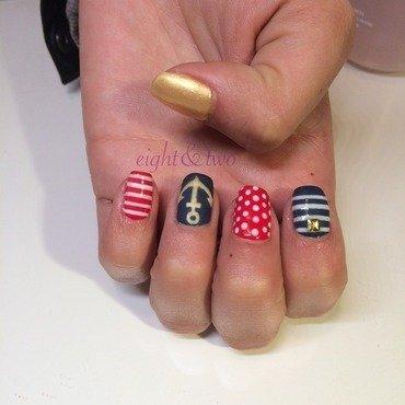 Sailor Themed  nail art by Ms Garcia