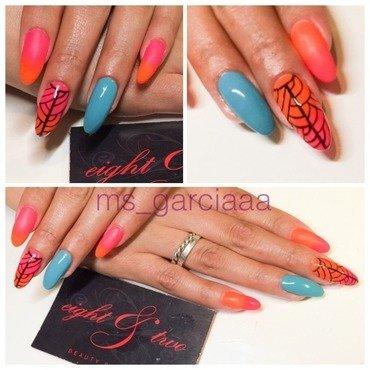 Summer SunSet  nail art by Ms Garcia