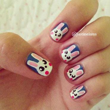 Cute Bunny Nails nail art by ℐustine
