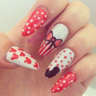 Mickey Mouse  nail art by Patricija Zokalj
