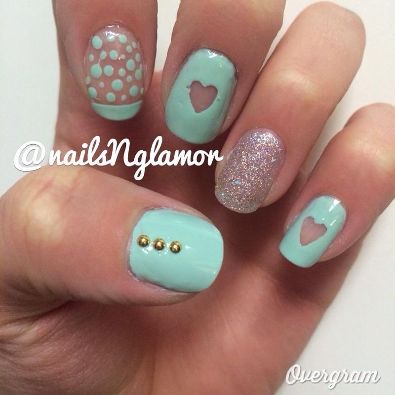 Tiffany Blue Nail Art: Hearts, Dots And Tiffany Blue! Nail Art By Svetlana Tsad