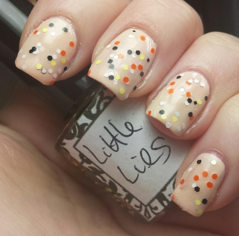 L-A Glitter Nails Little Lies Swatch by Sam