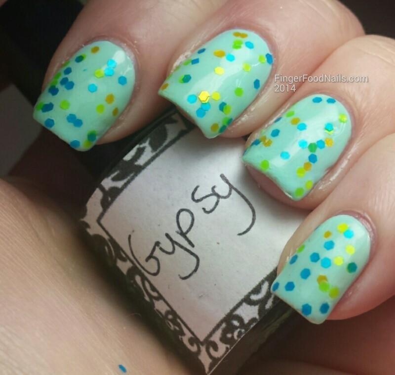 L-A Glitter Nails Gypsy Swatch by Sam