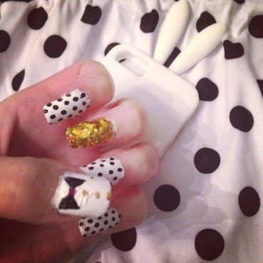 Polka dots nail art by Mariah