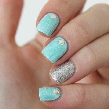 seashellssss nail art by Cocosnailss