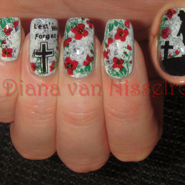 Lest We Forget... ANZAC / Remembrance Day nail art by Diana van Nisselroy