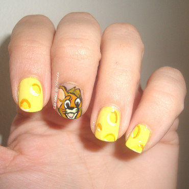 Tom y Jerry nail art by Yolanda flores