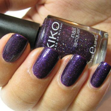 Kiko 225 Violet Microglitter Swatch by OnailArt