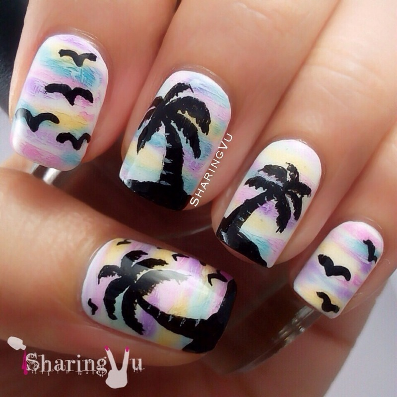 🌴🌴🌴  Palm tree 🌴🌴🌴 nail art by SharingVu