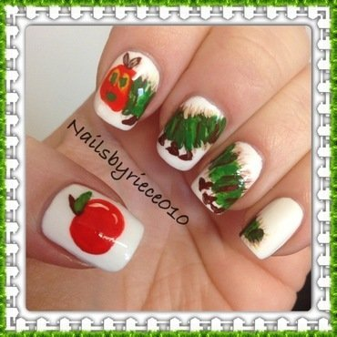 The Hungry Caterpillar nail art by Riece