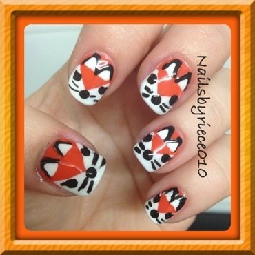 What does the Fox say?? nail art by Riece