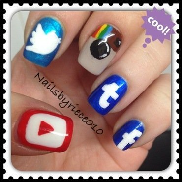 Social Media nail art by Riece