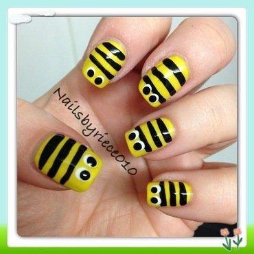 Bzzzzzzzzz nail art by Riece