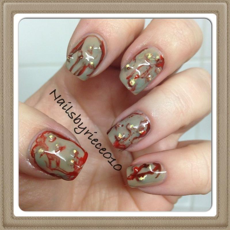 Zombie nails nail art by riece nailpolis museum of nail art zombie nails nail art by riece prinsesfo Choice Image