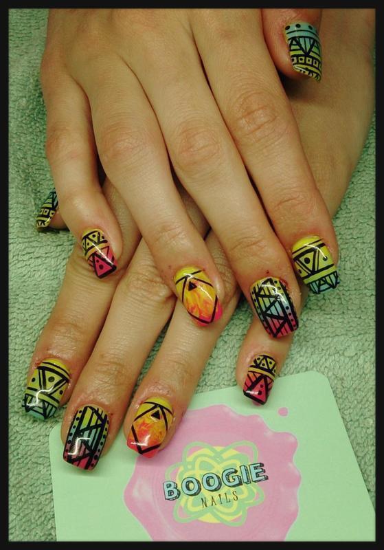 Spring Mix nail art by BoogieNails