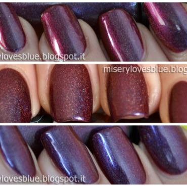 Speciallità MariMoon holo So Unique Swatch by MiseryLovesBlue