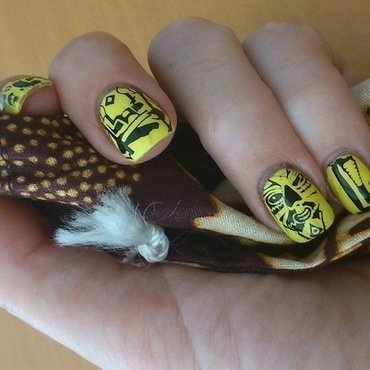 African nails nail art by Laurence