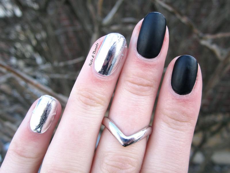 Matte // Chrome nail art by Nails & Threads