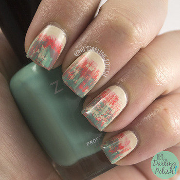 Tri polish challenge distressed nail art 4 thumb370f