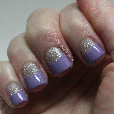 tip me in purple nail art by Crystal