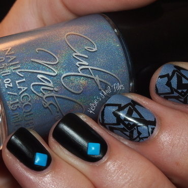 Intriguing Geometry nail art by Kelsie