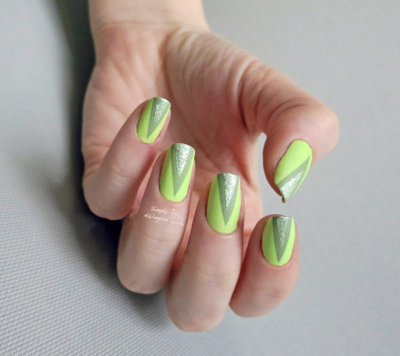 'Over the top' for matte triangles nail art by simplynailogical