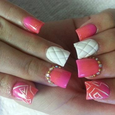 hot sumer  nail art by Haily Velez