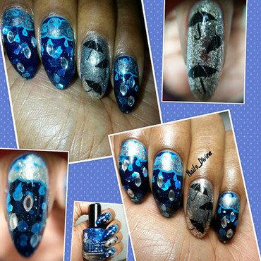 It's Raining Gems nail art by Nails_Divine