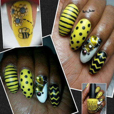 The Bees Knees nail art by Nails_Divine